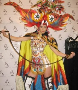 Miss Peru Karen Schwarz national costume